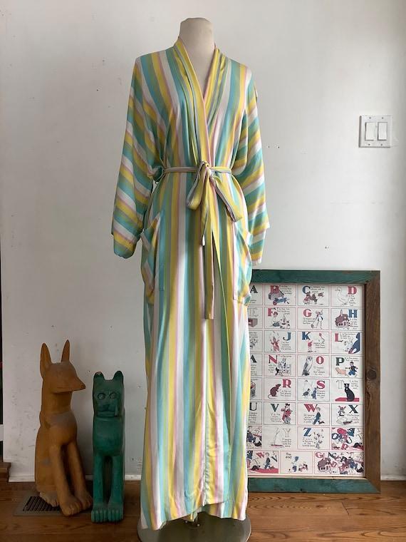 Vintage robe - vintage cotton robe - 1970s robe -