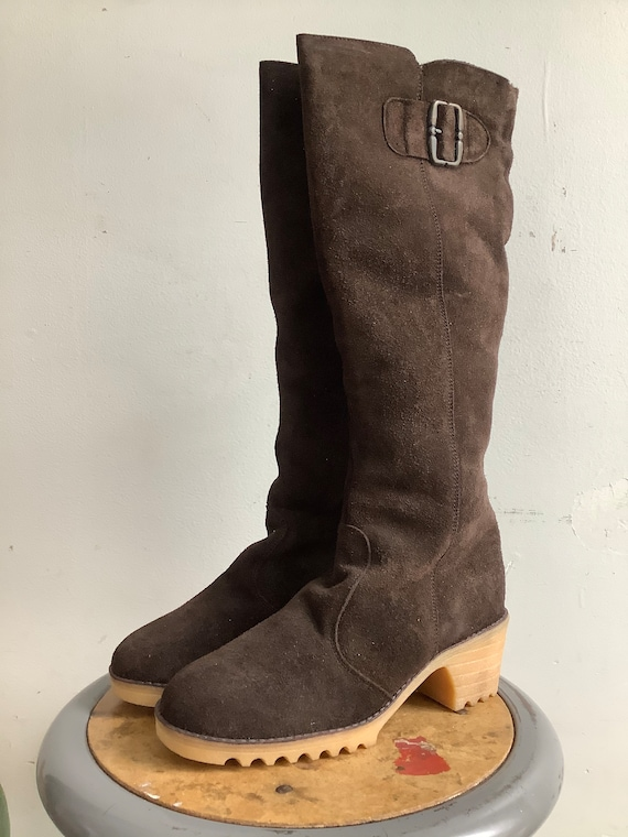 Vintage boots - Lamax  boots - suede boots - 1970s