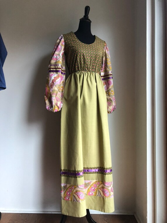 Vintage dress - 1970s dress - maxi dress - hippie