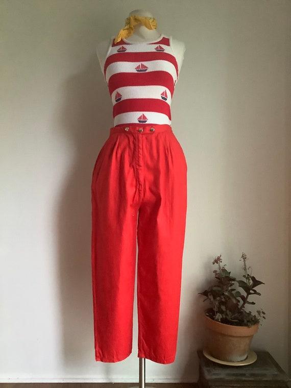 1950s pants - vintage crop pants - vintage summer