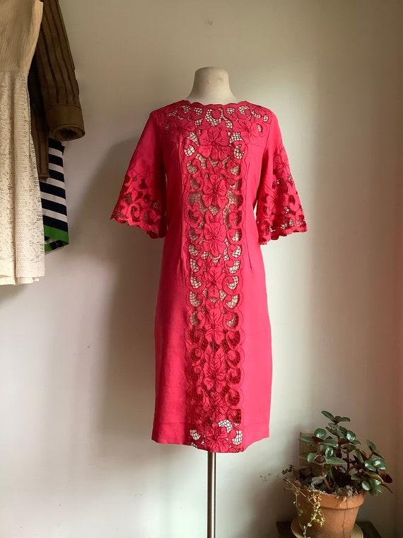 Vintage dress - vintage linen dress - 1950s dress