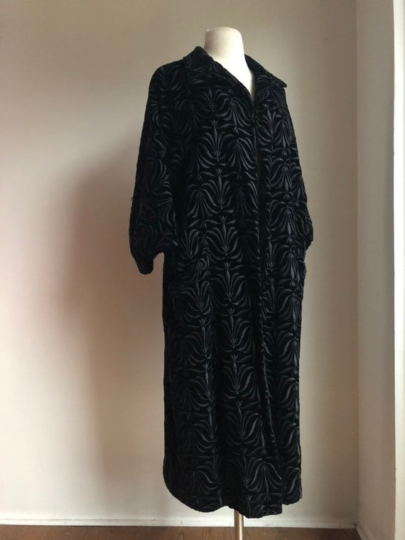 I960s coat - 1960s velvet coat - 1960s jacquard co