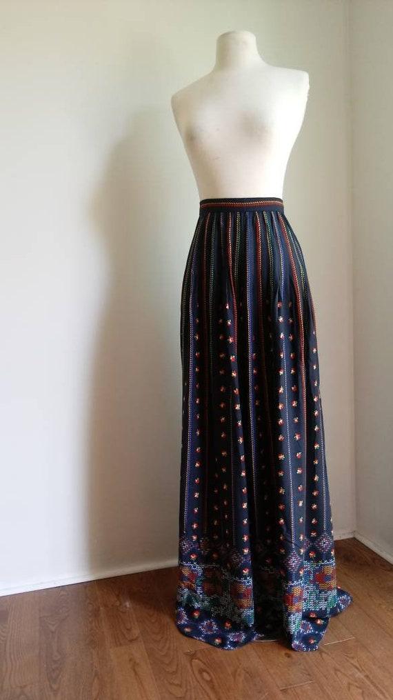 1970s maxi skirt - Morty Sussman skirt - 1970s pri