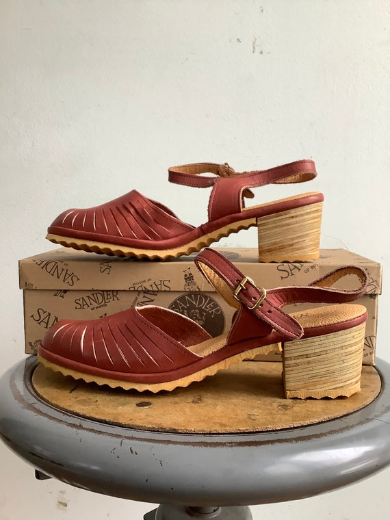 Vintage shoes - vintage sandals - 1970s leather sa