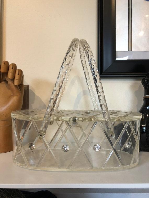 1959s lucite purse - Maxim lucite purse - Vintage