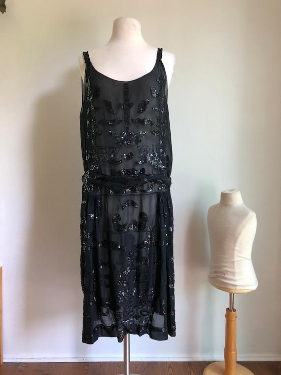 1920s dress - flapper dress - 1920s sequined dress