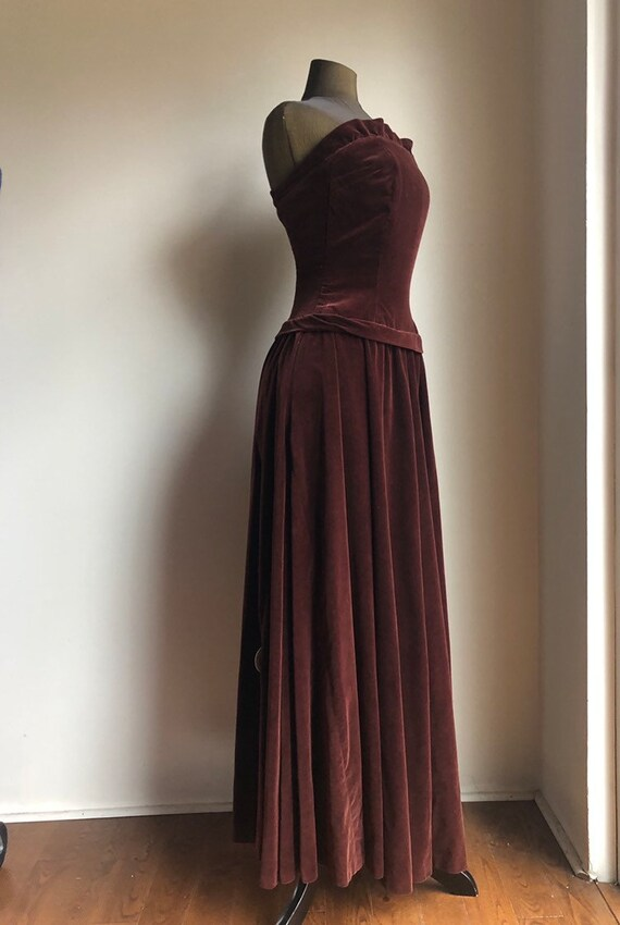 1950s Velvet gown - vintage gown - vintage gown an