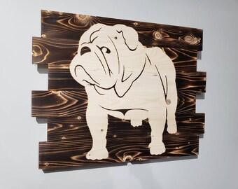 Bulldog Wall Art Etsy