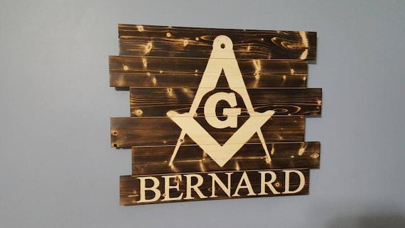 Masonic Logo Freemasons Wooden Rustic Wall Art Man Gift | Etsy