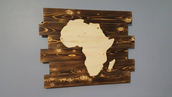 Africa Silhouette, Africa Wall Art, Rustic, Wall Hanging