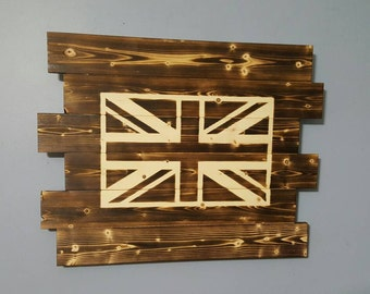 Union Jack - British Flag - Union Flag - Wooden Rustic Wall Art - Flag Decor