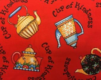 Red tea kettle kitchen window valances