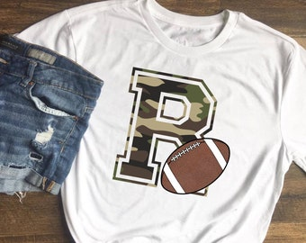 Camo Letter R Football Mascot png/sublimation/digital download