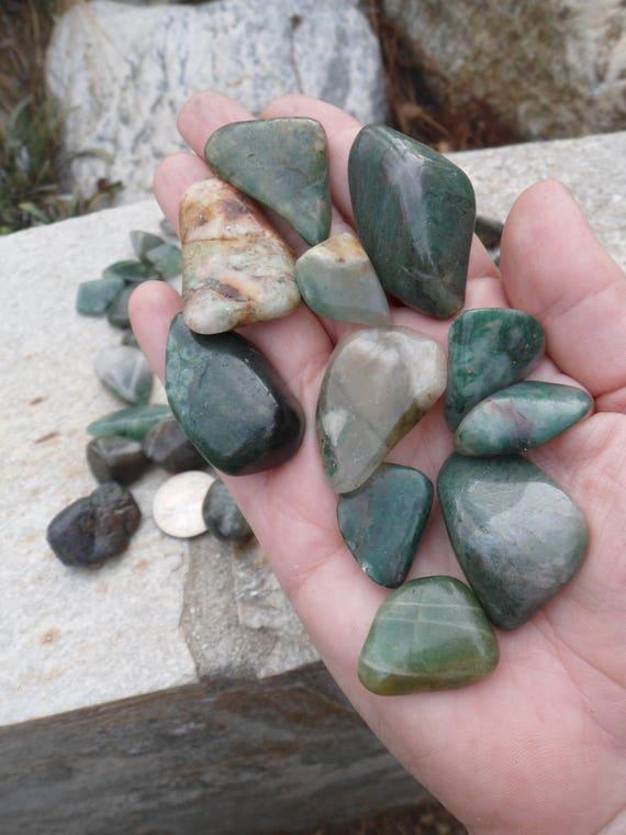 1 livre vert Agate & Jasper Mix chuté pierres, pierres, pierres, cristaux fe67b0
