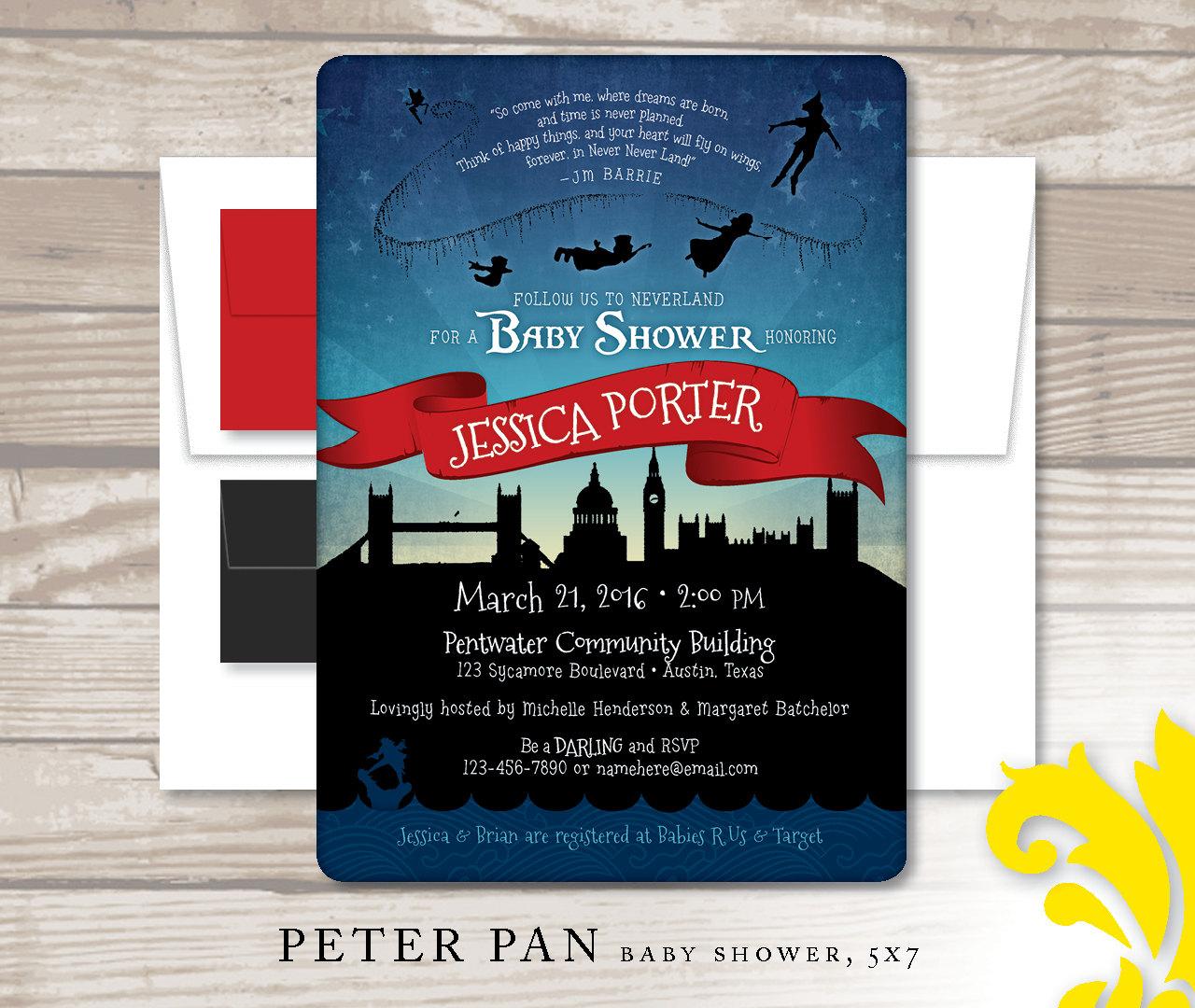 Dorable Peter Pan Birthday Invitation Image - Invitations and ...