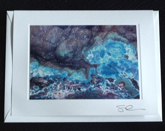 Card - Geode All Occasion Card; Geology; handmade blank photo greeting card