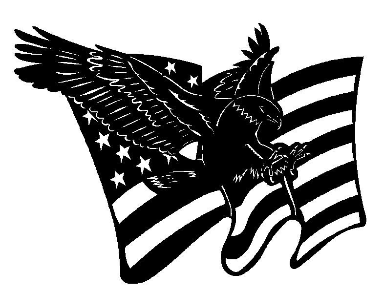 Eagle And American Flag Dxf File Etsy