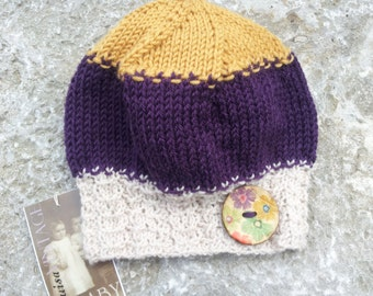 555213d77e9 Wool Baby Cloche Wool Baby Hat Mohair Crocheted Rose 6-12