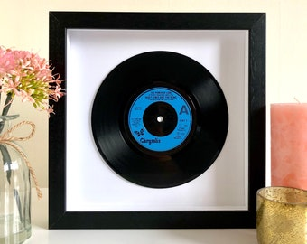 """Huey Lewis And The News """"Power Of Love"""" - Framed Vinyl Record"""