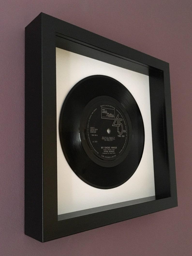 Stevie Wonder My Cherie Amour Framed Vinyl Record image 0