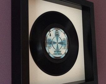 """Stevie Wonder """"Happy Birthday"""" Framed Vinyl Gift"""