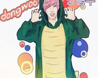 KPOP PRINT: 장동우 張東雨 Dongwoo (Infinite) Dinowoo 8x8 Print
