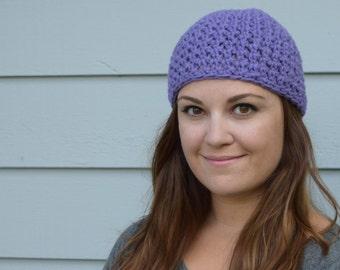 Lavender Crochet Beanie