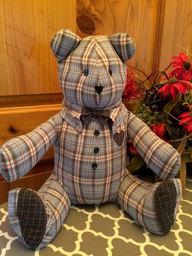 28e5a972d36 Memory Bears Keepsake Teddy Bears Custom made from your loved