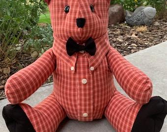 Memory Bears Keepsake Teddy Bears( Custom made from your loved ones Clothing)
