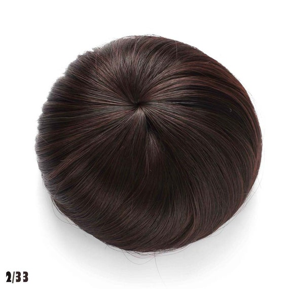 Synthetic Clip In Hair Bun Extension Donut Chignon Hairpiece Etsy