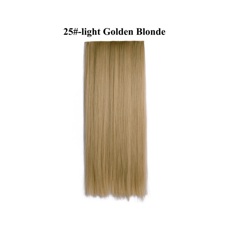24 Straight  3/4 Full Head Synthetic Hair Extensions image 0