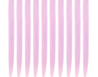 """23"""" Straight Synthetic Colored Party Highlight Clip in Hair Extensions  (10 Pcs Light Purple)"""