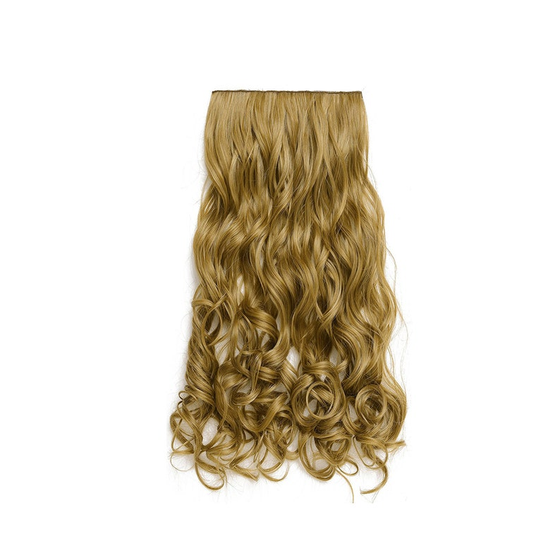 20 Curly 3/4 Full Head Synthetic Hair Extensions Clip image 0