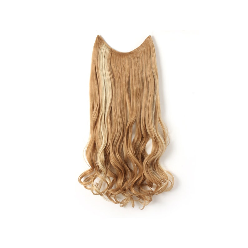 20 Curly Synthetic Hair extensions-Transparent wire/No image 0