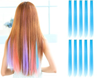 """23"""" Straight Synthetic Colored Party Highlight Clip in Hair Extensions (TF2513B)"""