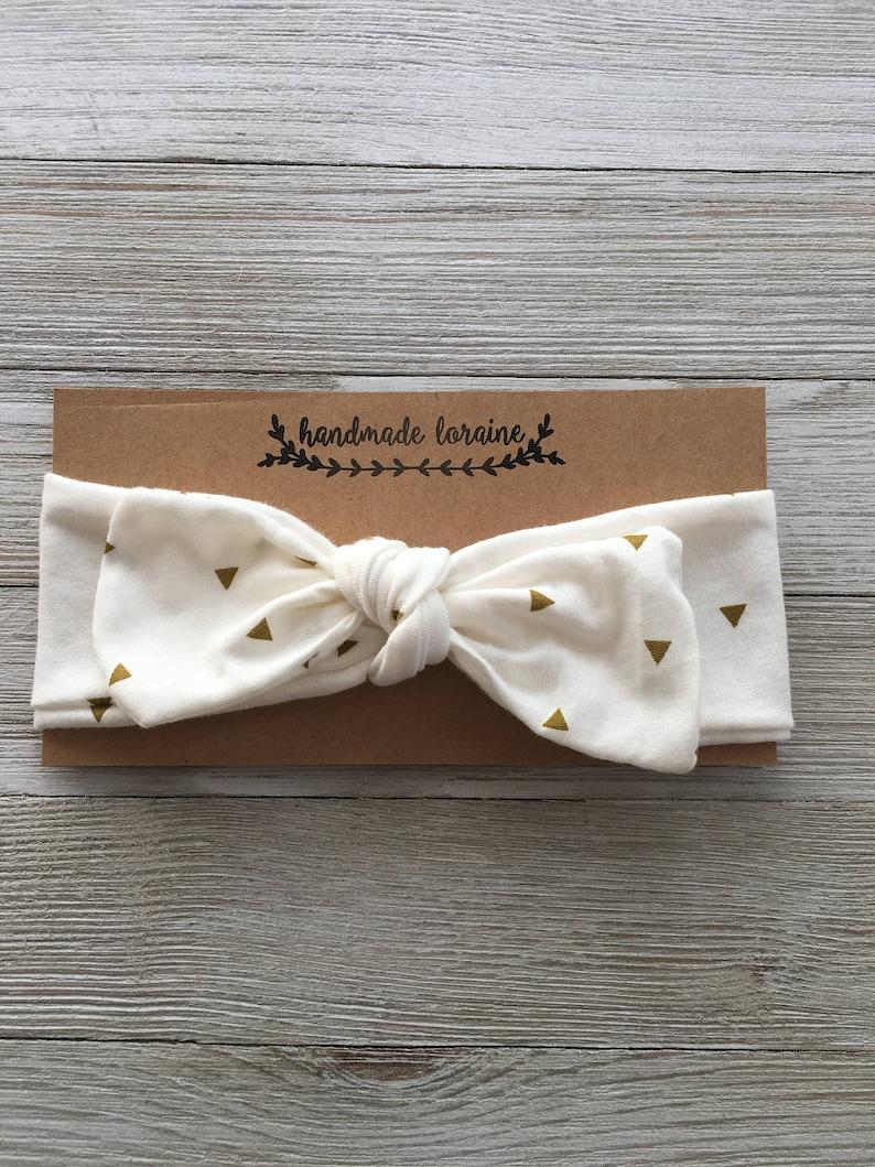 3b144647c Gold Triangle Headband Top Knot Headband Baby Headband Fall | Etsy