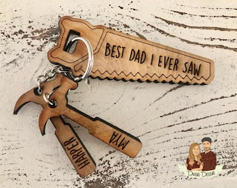 Gifts for Dad Grandpa Fathers Day Birthday Christmas Day from Daughter Son AMRIU Fathers Day Keychain Dad Gift from Daughter for Birthday,Best Dad Ever Keychain Stainless Steel Key Chain