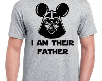 d96349300 I Am Their Father - Mickey Darth Vader - I Am Her Father - I Am His Father  - Disney Dad Shirt - Disney Dad Gift - Father's Day Gift