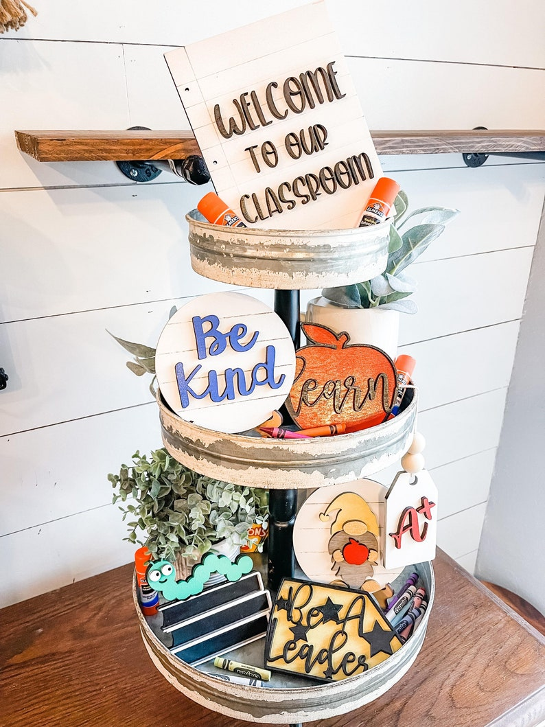 Back to School Tiered Tray  Teacher Tiered Tray  Teacher image 1