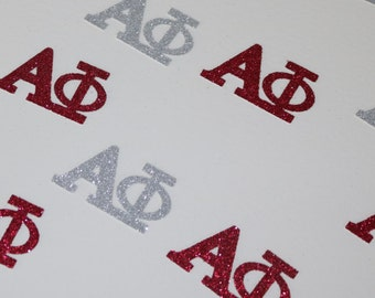 Alpha Phi Sparkly Red & Silver Glitter Confetti College Life~ Rush Gift~ Big Sis Little Sis~ Greek Week