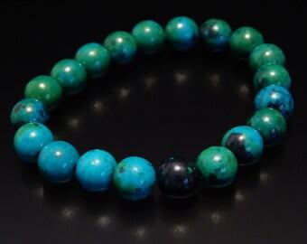 Bracelet, Chrysocolla 8mm bracelet, Beaded bracelet, Mens Bracelet, Womens Bracelet, Bracelets for men, Bracelets for women, Mens Bracelets