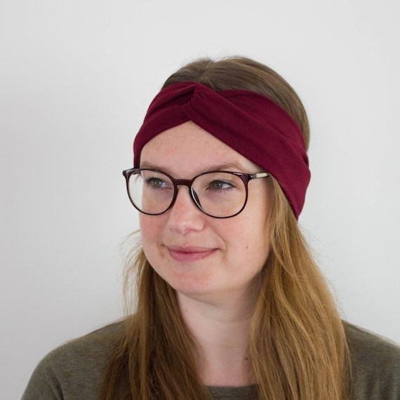 Burgundy Headband Head Band for Woman Boho Hippie Style  88586def3c04