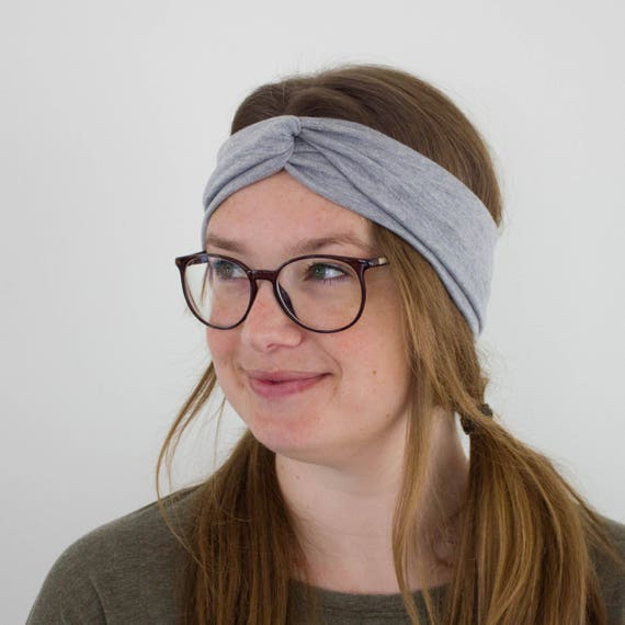 Grey Turban Headband Boho Hippie Style Headband Turban Twist  c719c5a4c6fd