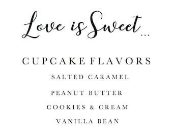 PRINTABLE Custom Cupcake Flavors Sign