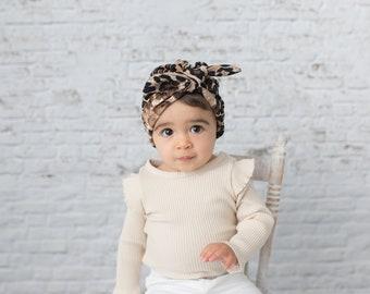 b9fc80b71e7 Infant Turban  baby turban  baby girl turban  knot turban  knotted hat  knotted  Turban  newborn turban hat  leopard turban - Leopard Print