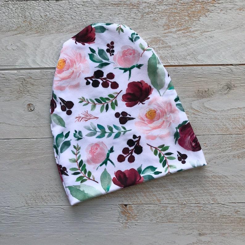 Floral hat  Slouchy Beanie  baby girl slouchy beanie  toddler  1ea5fbcabc5