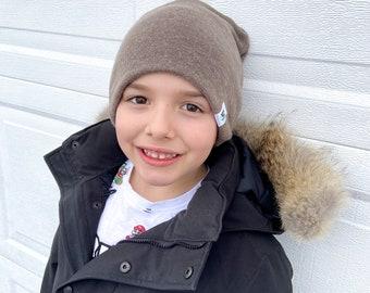 fall/ winter Beanie Brown Slouch Beanie/ mocha slouchy hat/ toddler beanie / mocha beanie/ fall toque / slouchy beanie/ brown hat - mocha
