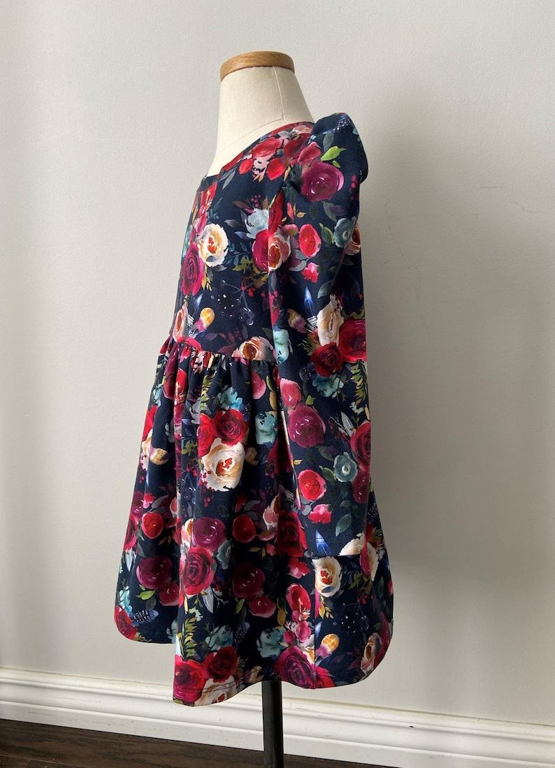 Kleid / Marine Blumen kleid / Baby-Mädchen-Kleid / Baby ...