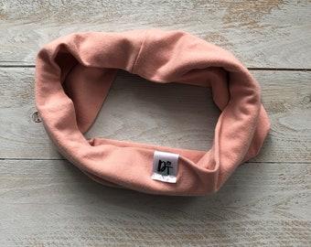 peach pink Scarf/ toddler scarf/ Toddler infinity scarf/ Baby boy infinity scarf/ Kids infinity scarf/ loop scarf/ pink scarf  - Peachy Pink