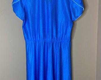 Jonathan Summers of Sydney blue vintage polka dot tea dress. Size 12.